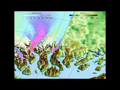 Bed topography of West Greenland