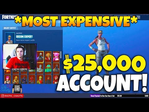 Epic CONFIRMED the MOST EXPENSIVE Fortnite Account EVER! EVERY SKIN RELEASED Fortnite Moments 189