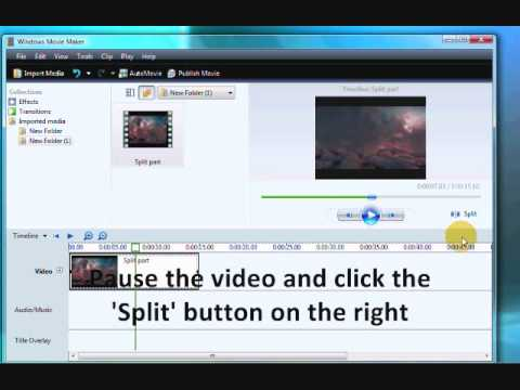 Windows Movie Maker + How to split and adding a picture overlay