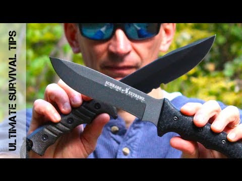 Crazy! BEST Survival Knife for $50 U.S.? - Schrade Extreme Survival Knife REVIEW - SCHF9