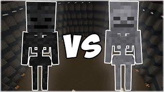 Wither Skeleton vs Skeleton - Minecraft Mob Battle
