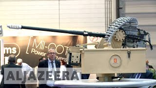 Europe's largest arms fair opens in the UK