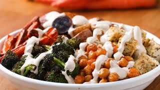 Quick-Roasted Veggie Bowl Recipe • Tasty