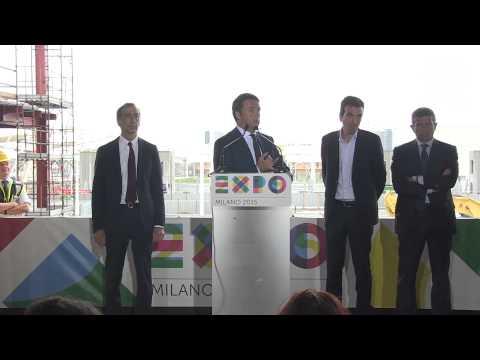 Expo 2015: Renzi a Milano in visita ai cantieri