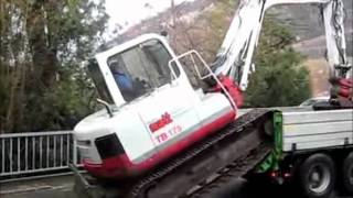 Takeuchi Mini Ekskavatör Traktör Römork ile Nakliye Video