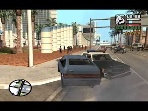 GTA San Andreas PC - Those crazy Ballas... they'll follow Carl anywhere.