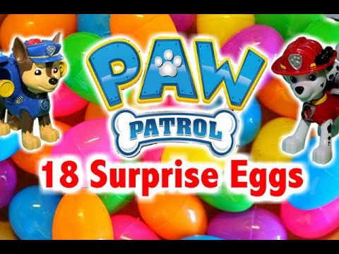 PAW PATROL Surprise Eggs