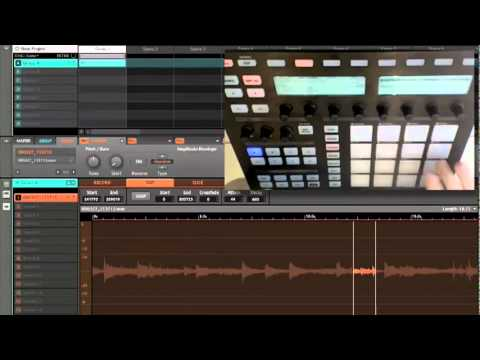 Native Instruments Maschine sampling demo