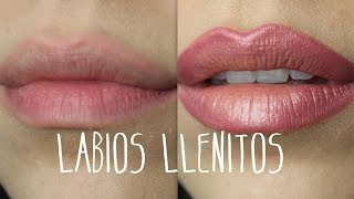 Labios más grandes con maquillaje / bigger lips with make up by Analia Brizueña