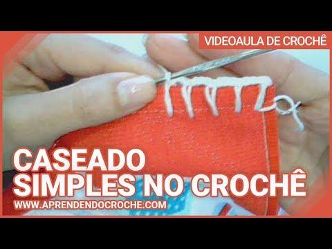 Aprendendo caseado simples no croche - Aprendendo Crochê