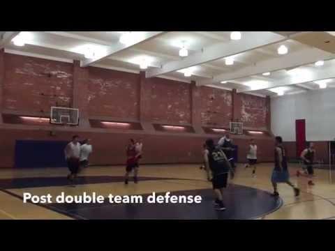 【ポスト封じ】Double team post defense