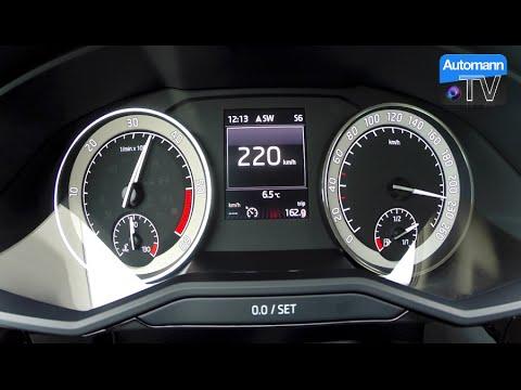 2016 Skoda Superb 2.0 TDI (190hp) - 0-222 km/h acceleration (60FPS)