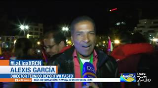 Deportivo Pasto fue recibido en caravana por sus hinchas en la capital nariñense