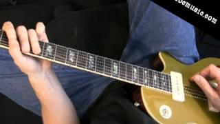 Pentatonic C minor Guitar Lick - Intermediate Level Speed Building Lesson Metronome Focus