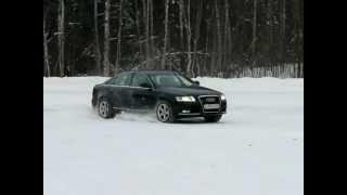 Audi A6 3.0T snow drift