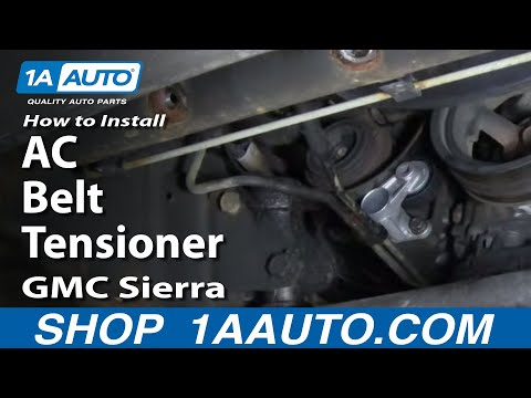 How To Install Replace AC Belt Tensioner Silverado Sierra Tahoe Suburban 4.8L 5.