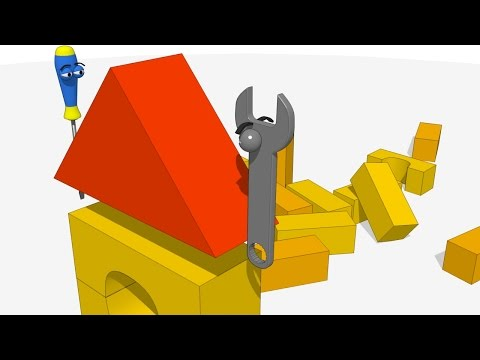 FUNNY TOOLS for Kids (ep.12) - Playing with Building Blocks - AApV