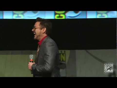 Robert Downey Jr. Surprises Fans at Comic-Con 2012