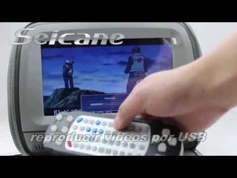 Multifunción Reposacabezas Reproductor DVD Coche con FM Juegos y Cubierta de la Cremallera