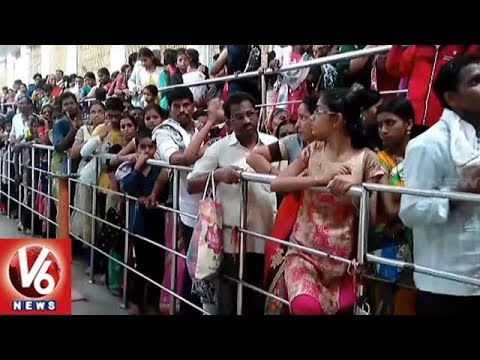Devotees Throng Basara Temple, Tirumala Tirupati As Summer Holidays Comes To End | V6 News