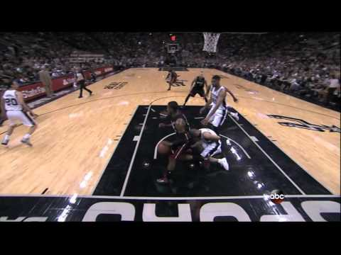 Mario Chalmers flagrant on Parker