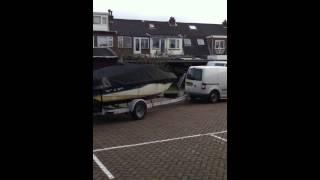 Bootzeil historie 2013: Speedboot op trailer