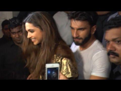 Ranveer Singh PROTECTS Deepika Padukone at Filmfare Editor Jitesh Pillai's B'day Bash