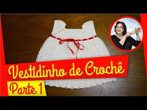 CROCHÊ - VESTIDO BRANCO PARTE 1
