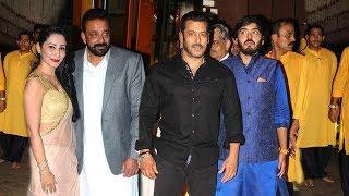 Salman Khan's GRAND Entry At Sanjay Dutt's Diwali Party 2017 At House In Bandra