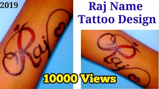 Raj Name Tattoo Design ll Raj Name Love Tattoo Design by Cute Anjali