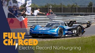 VW I.D. R smashes the Nurburgring Electric Vehicle Record   Fully Charged
