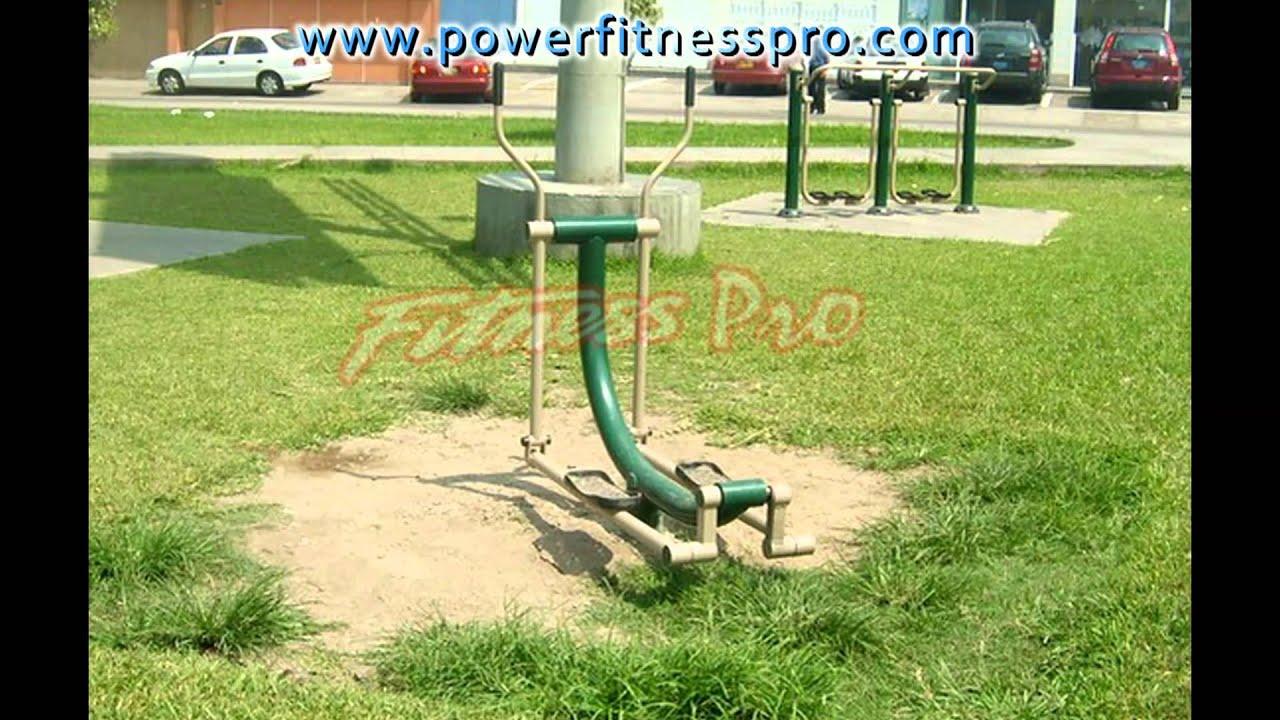 Maquinas para parques venta equipamiento fitness youtube for Maquinas para gym