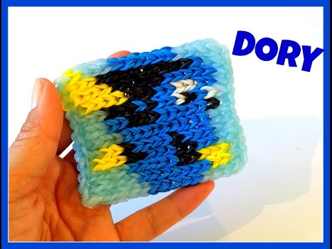 Rainbow loom mini mural videolike for Mural en elastique