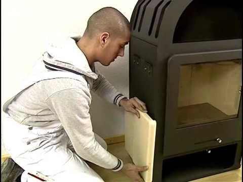 ofenverkleidung kaminofen hark 52 gt ecoplus youtube. Black Bedroom Furniture Sets. Home Design Ideas