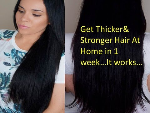 How to get Thicker hair Naturally at home.How to get LONG hair FAST: 1 inch in 1 week