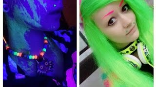 ★ Dying My Hair Neon Green (UV Reactive) ★