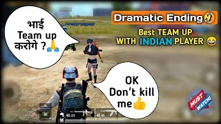 I Team up with enemy (Indian🇮🇳) awesome ending 😂 in Pubg mobile | Pubg mobile Hindi