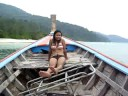 Longtail boat Ta Ru Tao National Park Thailand