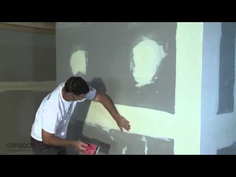 How to install Gyprock plasterboard - How to sand and finish Gyprock plasterboard joints - Video 6