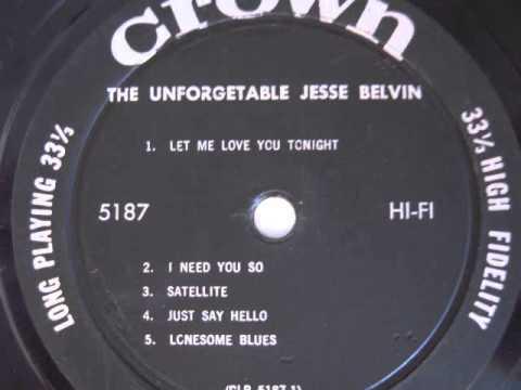 Jesse Belvin- I Need You So