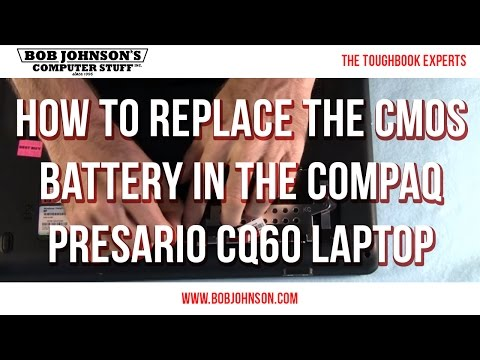 How to replace the CMOS Battery in the Compaq Presario CQ60 Laptop