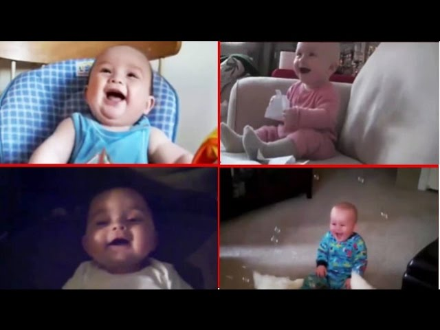 [TOP Funny Baby laughing Compilation, soooo cute..can't stop ...] Video
