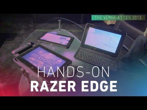 Razer Edge gaming tablet hands-on video