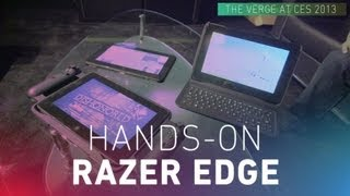 Razer Edge gaming tablet hands-on video