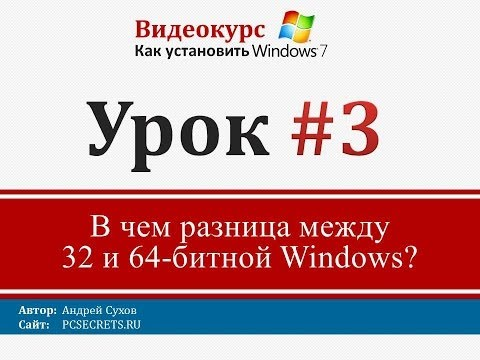 Урок 3- Какой Windows установить 32 или 64-битный и в чем разница