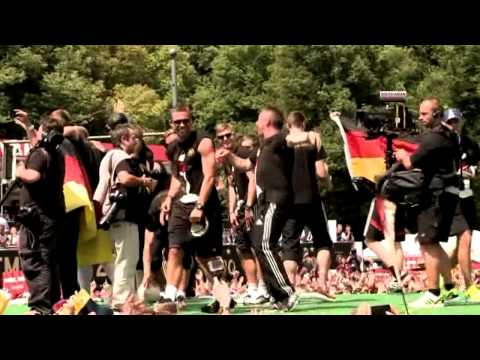 Germany football team celebrates World Cup win on Berlin streets