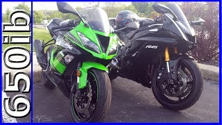 2017 R6 vs 2016 ZX-6R | SAVAGE SMACKDOWNS!!!