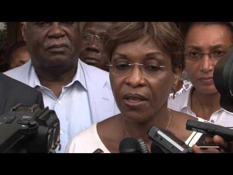 16 Nov. 2015, La représentante spéciale Aïchatou Mindaoudou visite Affi nguessan du FPI a la Riviera