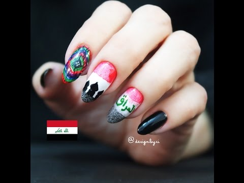 IRAQ NAIL ART @designbyci