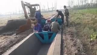 Water Canal   Channel Making Machine , Paving machine